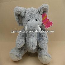 grey colour hot shape Stuffed Elephants Plush Stuffed Toys