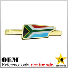 custom national flag gold plated blank nautical sports basketball tie clip