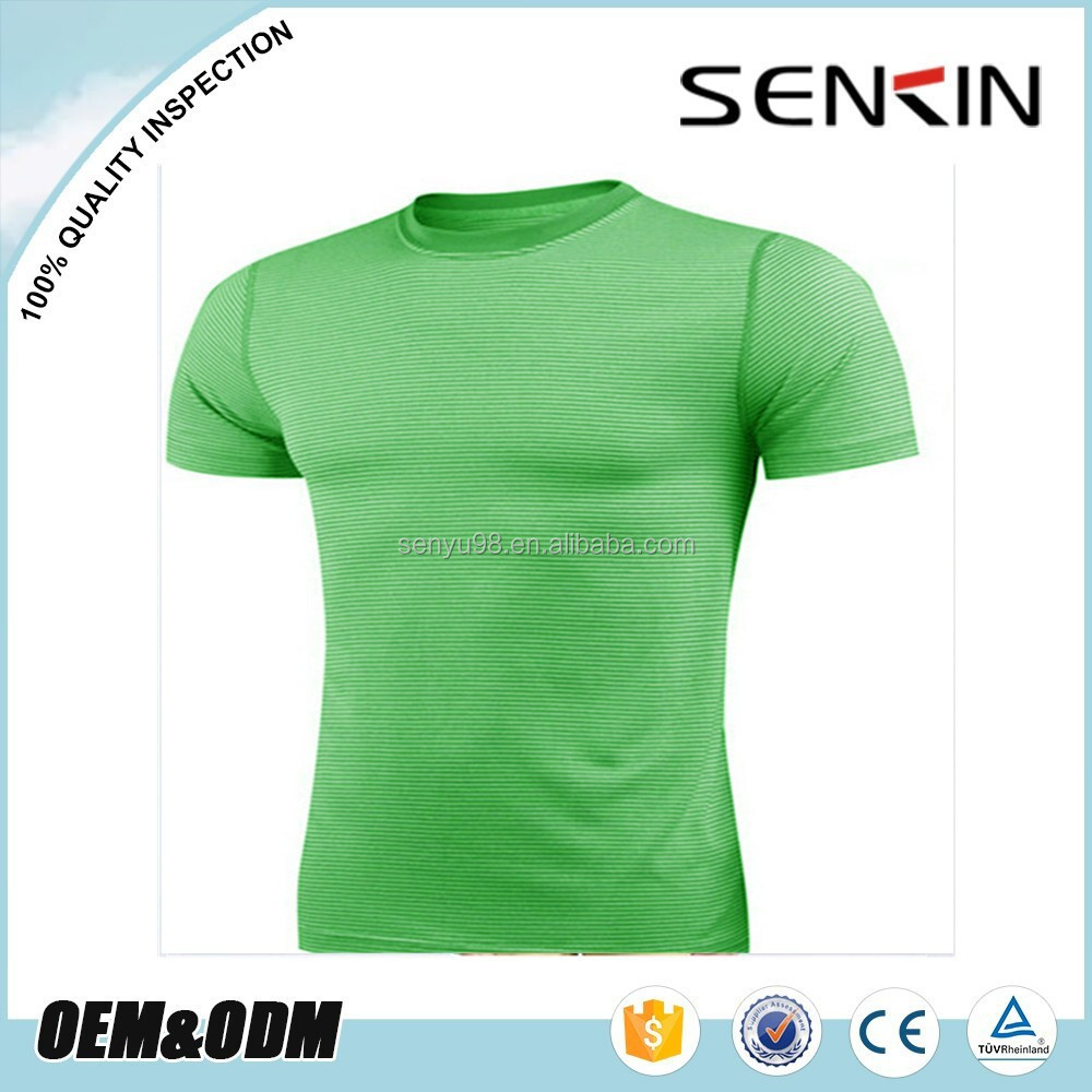 New Design Athletic Shirts Dri Fit Round Collar T Shirts