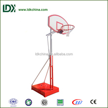 Indoor outdoor height adjustable portable basketball hoop
