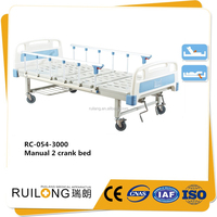 RC-054 High Quality Three Functions Manual 2 Crank Hospital Medical Bed