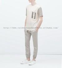 o-neck stripes short sleeves printing t shirt men