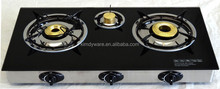portable/3 burners Gas stove/FFD safety device/tempered glass