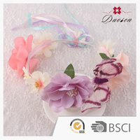 Wholesale christmas garland artificial flower garland flower wreath with butterfly garland