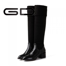 High quality PU and famous brand over knee winter boots for laides