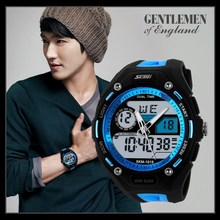 2015 waterproof multifunctional dual time zone gift watch sports electronic