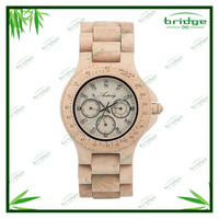 new arrival original design high-end custom-made natural color wooden charm watch