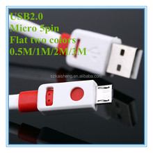 oem colorful pvc flat 0.5m 1m 1.5m 2m 3m ac power cord cable for ps3
