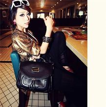 A193 2015 new fashion retro candy color girls leather camera bag