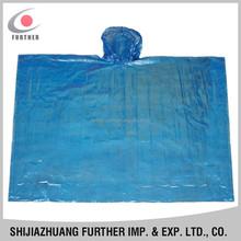 R-1037-5 new arrival Phthalate free pe disposable reliable blue adult showerproof thin sleeve bike rain coat