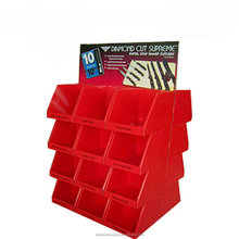 large capacity floor display stand with cells for christmas gift supermarket retailing