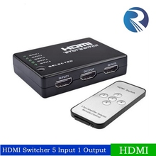 5 Port HDMI Switch Switcher 1.4 HDMI Splitter Hub with IR Remote IR Receiver Cable for Xbox PS3 DVD 3D 1080P HDTV