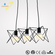 GZ50025-3P popular simple design black metal post-modern hanging light