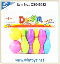 10cm plastic funny small bowling balls for kids