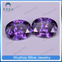 synthetic jewelry gems loose gemstone amethyst raw cubic zirconia