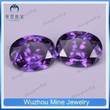 synthetic jewelry gems loose gemstone amethyst raw cubic zirconia