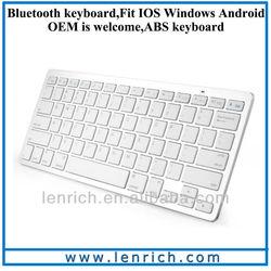 LBK103 2013 best selling items White Mini Bluetooth Keyboard, wireless keyboard compatible with Apple MAC