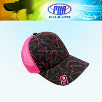 Newest All Over Pattern Embroidered Girl Trucker Hats