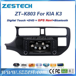ZESTECH best price Car Audio Navigation system for KIA RIO Car Audio Navigation system with GPS,Radio,BT,RDS,3G,V-10disc+factory