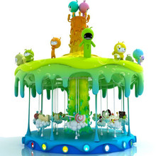 Hot Sale! Theme Park Recreational facilities 12 rides carousel animals for sale