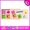 2015 Wooden Boxes Packing Kids Dominos set toy,Children Mini Domino game set products,Travel wooden toy domino game set W15A012