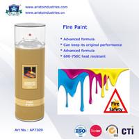Hi heat resistance fire paint spray
