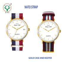 Latest Fashion Designed Slim Nylon Strap Watch with OEM Service