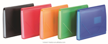 Cheap price PP expanding wallet with elasitc closuer wholesale stationery