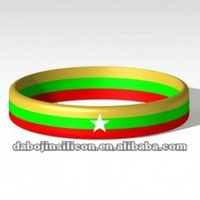 Burma country flag silicone wristbands for promotional gifts
