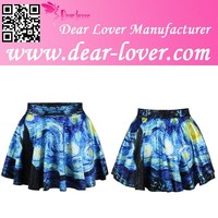 Fashionable Starry Sky Print Adult Sexy Mini Skirt Pictures