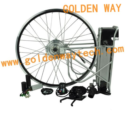 Led display pedal assist system hub motor 36v 250w for Motor assisted bicycle kit