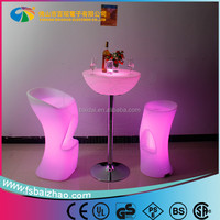 Light up bar Table / Illuminated Led Table/Glowing Led Cocktail Table