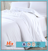 5 Star Hotel Queen Or King Size White Sateen Bedding Sets
