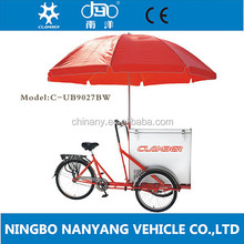 Custom adult front loading cargo tricycle for ice cream