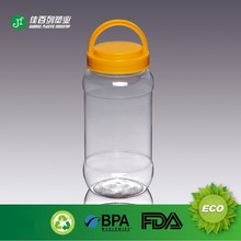 competitive price China factory price hot sale 1000g honey 750ml water volume clear PET plastic jar with yellow lid