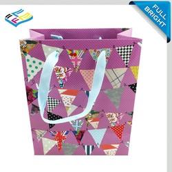 Trade Assurance Supplier Custom colorful art paper package gift bag