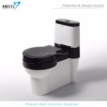 Newest eco-friendly sanitary wc toilet, dual flush 3L/4.5L water-efficient with top brand WDI water fitting