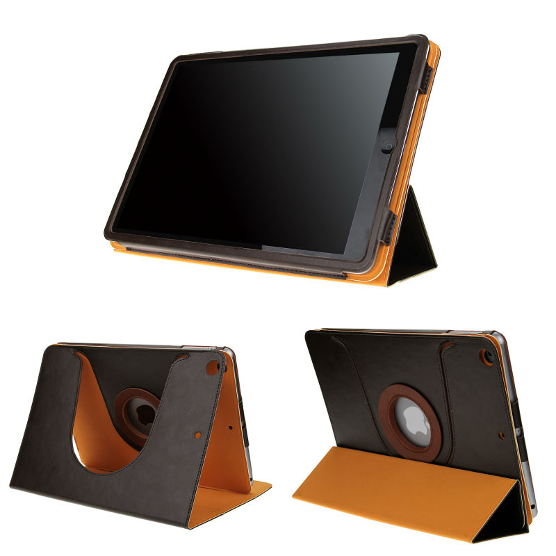 Folders style 9.7'' tablet case cover for ipad Air , 360 degree rotating protective case cover for ipad Air .