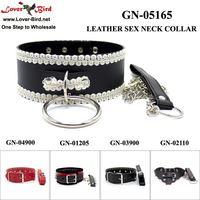 Neck Restraints Adult Sex Game Essential Leather Bondage Collar