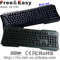 1.5m Optical standard wired USB keyboard for computer