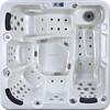 High quality whirlpool 5 people hydromassage bathtub japanese sitting bathtub,bathtub for fat people