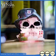Hot Selling led flameless skull candle