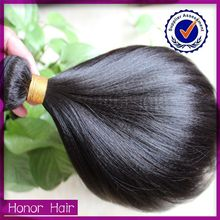 promote sale 100g for one pack excllent remy human weave wavy yaki hair