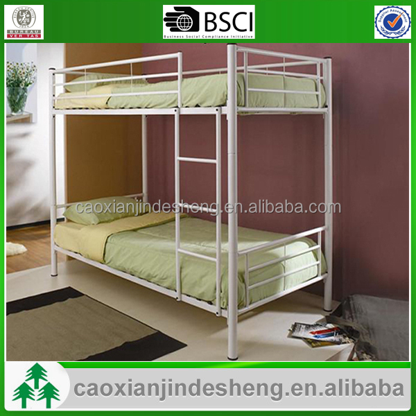 Metal double bunk beds for kids furniture iron bedroom for Bedroom designs with double deck bed