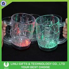 Wholesale High Quality Beer Colorful Light Mug With LED, Gift LED Mug, Cheap Plastic Colorful Light Mug For Beer Promotion