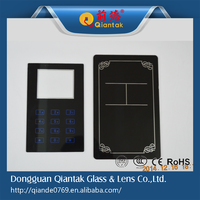 Factory Supply Custom Back Printing Tempered Front Touch Glass Panel
