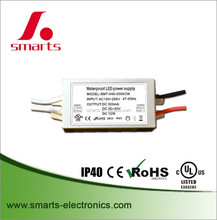 Output 20-40v constant current 300ma 12w LED driver with small size