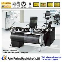 PT-D058 modern executive office desk glass executive desk high class roll top desk office furniture