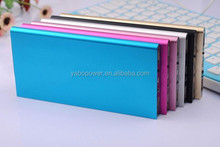 New arrive!!! 6000mAh Lithium-polymer slim aluminium alloy power bank for mobile phone and table PC