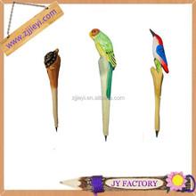 Novelty 2014 hot sell decorative woodpecker shape ballpoint pen set with logo